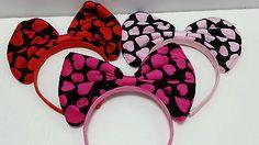 Big Bow Heart Design Headband Variety of Colors | eBay