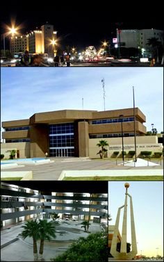University autonoma de Baja California.Images from top, left to right: Mexicali at night, UABC Mexicali campus, UABC Engineering Faculty, Civic Centre Monument