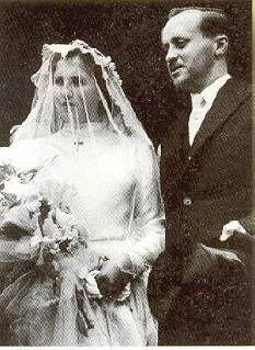 Duarte Nuno, Duke of Braganca and Princess Maria Francicsa of Orleans-Braganca -1942  On 15 October 1942 Dom Duarte Nuno, Duke of Braganca and pretender to the Portuguese throne, married princess Maria Francisca of Orleans-Braganca (Brazil) in Petropolis (Brazil):