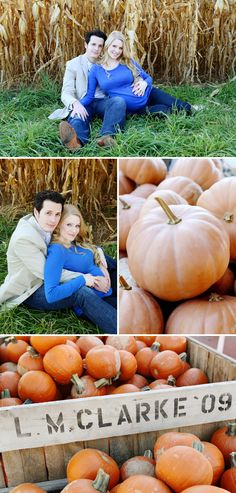 Fall Maternity Photos... if we decide to do fall pics I love the corn field and pumpkins...