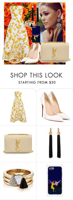 """""""Untitled #847"""" by brandi-gurrola on Polyvore featuring The 2nd Skin Co., Christian Louboutin, Yves Saint Laurent and Brixton"""