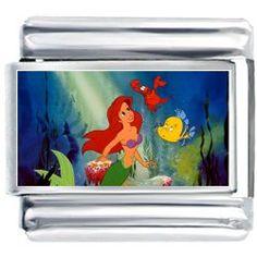 Disney Ariel swimming Photo Italian Charm: Jewelry: Amazon.com