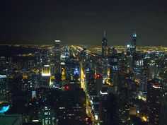 Chicago from the 94th floor of the Hancock Building around 9:40 PM , Labor Day weekend