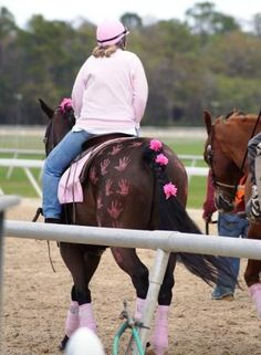 Pink Ponies show to support For the Cure of breast cancer. i love this one its so creative!