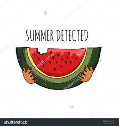 Watermelon background, digital art, design print