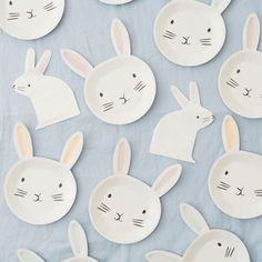 Bunny Plates (Pk 12) Meri Meri