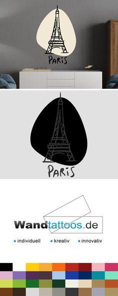 Perfect Wandtattoo Eiffelturm zweifarbig