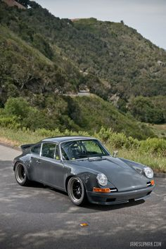 WEVO built PVX, a 1969 Porsche 912 with a water cooled, 425hp 996 GT3 Cup engine mounted under its carbon deck lid.