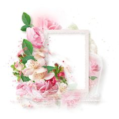 NLD Cluster 3 c.png ❤ liked on Polyvore featuring flowers, frames, ramki, backgrounds, borders and picture frame