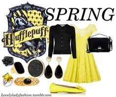 """Hufflepuff Seasons - Spring"" by nearlysamantha on Polyvore"