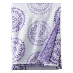 Circo® Soft Valboa Popcorn Blanket - Purple Medallion