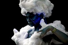 A model resembling a thundercloud poses for a picture during the World Bodypainting Festival 2017 on July 28, 2017 in Klagenfurt, Austria.
