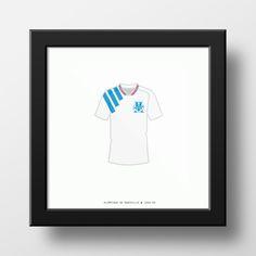 Olympique de Marseille 1993 Soccer Football Jersey Maillot