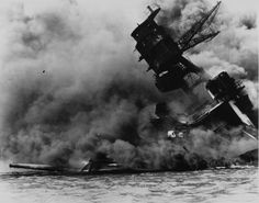Pearl Harbor  The USS Arizona after the Japanese sneak attack at Pearl Harbor on December 7, 1941.