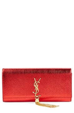 This Saint Laurent metallic is red hot.