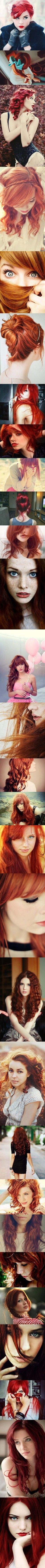 My obsession with red hair