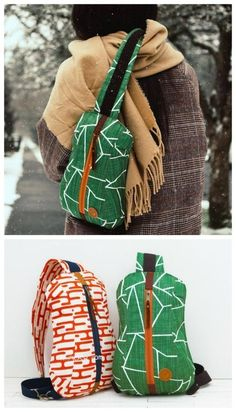 Sewing pattern for a sling bag or crossbody bag sewing pattern. This easy to sew… Sewing pattern for a sling bag or crossbody bag sewing pattern. This easy to sew sling bag features a single adjustable strap to be worn… Continue reading → Bag Sewing Pattern, Easy Sewing Patterns, Bag Patterns To Sew, Backpack Sewing Patterns, Free Pattern, Wallet Pattern, Sewing Hacks, Sewing Tutorials, Sewing Tips