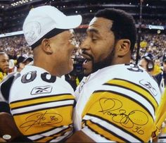 Jerome Bettis & Hines Ward Autographed Pittsburgh Steelers 16x20 photo JSA