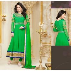 Clearence Sale Green Salwar Kameez