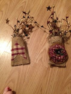 Primitive decor made from empty TP Roll- So Easy