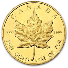 Canadian Maple Leaf gold bullion coin - these make excellent birthday, Christmas, and just-because gifts! Canadian Maple Leaf, Canadian Coins, Bullion Coins, Gold Bullion, Maple Leaf Gold, Sell Your Gold, I Love Gold, Sell Coins, Gold Money