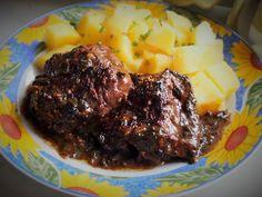 Hlavní jídla :: RECEPTY ZE ŠUMAVSKÉ VESNICE Steak, Food And Drink, Beef, Treats, Health, Meat, Sweet Like Candy, Salud, Health Care