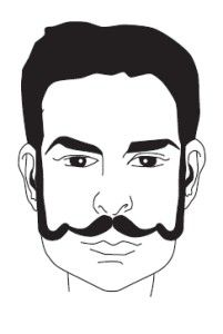 http://howtogrowamoustache.com  A la Souvarov Moustache Maintenance - A La Souvarov is a combination of moustache and sideburns - sideburns curve downward toward the corner of the mouth and then curve upward into the moustache connecting with it.