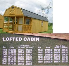 12X32 Deluxe Lofted Cabin Premier Portable Building I believe the     Newest Cabin JPG