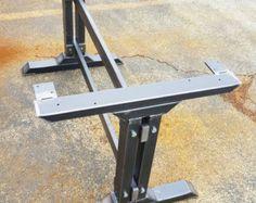 Set of 2 Modern Bench X Legs Heavy Duty industrial by DVAMetal