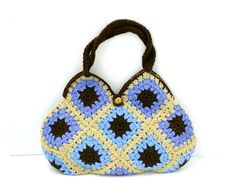 10 off sales Handmade Knitted Bag in Light Blue by NatbeesFashion, £45.00
