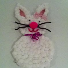 Easter Bunny Cotton Balls craft