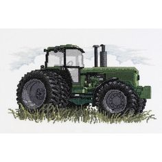 """Tractor Counted Cross Stitch Kit-12""""X7"""" 14 Count"""
