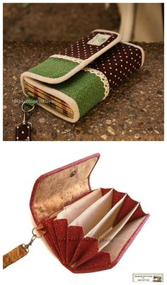Instant Digital Download. The clutch can be a good organizer. There is a zippered foldable pocket in it for small things, such as coins, single key, small-sized jewelry. Besides, there are six card slots in it. So the clutch can be a wallet also. Other pockets can be put into keys, cellphone, bills....