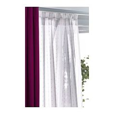 MATILDA Sheer curtains, 1 pair, white | 55x98"