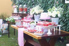 Chá de Cozinha {Vermelho + Rosa + Branco}