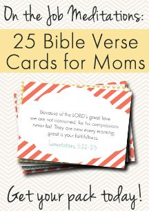 Super cute and encouraging Bible Verse cards for Moms. GREAT gift idea!