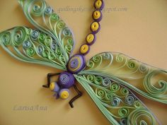Dragon Fly - Quilled by: Larisa Ana