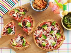 Semolina and Sun-Dried Tomato Waffle-Pizzas Recipe : Damaris Phillips : Food Network - FoodNetwork.com