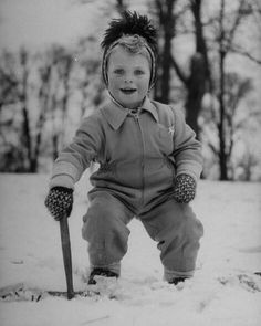 Prince Carl XVI Gustaf as a toddler..I see Madeleine ...