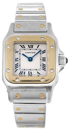 Gemnation new Cartier Santos$5270 Ladies Wristwatch Model: W20012C4