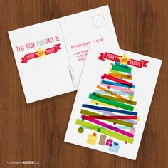 Merry & Bright holiday cards