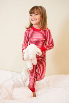 Skylar Luna Red/Silver Long Sleeves Pajamas