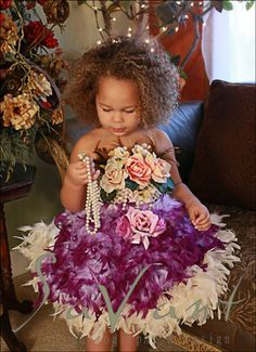 The devine feather apron tutu dress. LoveBabyJCouture