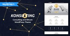 Buy Konsulting - Consulting & Bitcoin WordPress Theme by modeltheme on ThemeForest. Want to create incredible Investments and Consulting WordPress website? Sick of testing and evaluating themes? Themes Free, Themes Themes, Wordpress Template, Wordpress Theme, Php, Website Template, Stock Market, Cryptocurrency, Make Money Online