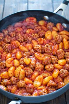 Made with just 4 ingredients in less than 30 minutes, this One Pot Sausage Gnocchi is a simple, yet filling and tasty dish that the whole family will enjoy!COM (Simple Sausage Recipes) Gnocchi And Sausage Recipe, Chicken Andouille Sausage Recipe, Aidells Sausage Recipe, Andoille Sausage Recipes, Johnsonville Sausage Recipes, Gnocchi Recipes, Eckrich Sausage, Chicken Recipes, Gourmet Recipes