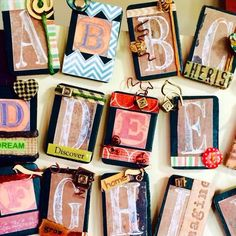 """Handcrafted Rustic + Farmhouse LETTER MAGNET --- Personalized, Unique & Special Gift for Family and Friends --- Letter """"I"""" is for Imagine by TextileandType on Etsy https://www.etsy.com/listing/234843763/handcrafted-rustic-farmhouse-letter"""