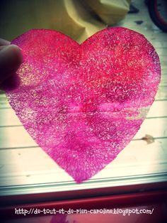 Scented heart: dryer sheet & watercolor. Simple craft but lots of fun!