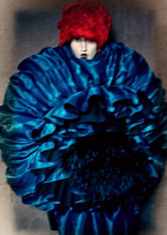 Blue Witches Anna Cleveland by Paolo Roversi for Luncheon Magazine Spring Summer 2016 3