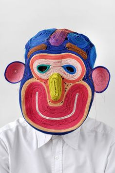 Studio Bertjan Pot › Masks at Exhibition 'Design with Heart' Colored Rope, Creation Art, Character Creation, Design Textile, Colossal Art, Interesting Faces, Artists Like, Mask Making, Art Plastique