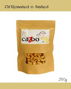 Flavoured Cashew Nuts, Dry Fruits, Cazootree, Oil Roasted and Salted Cashew Nuts